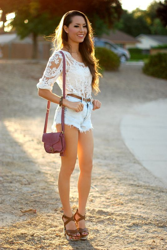 Lace Top and Shorts via