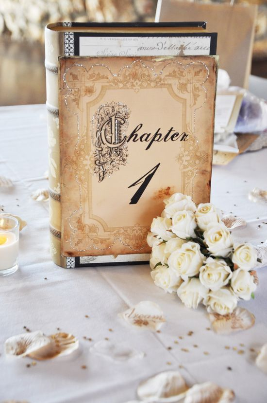 23 book inspired wedding decorating ideas pretty designs old books and flowers via junglespirit Choice Image