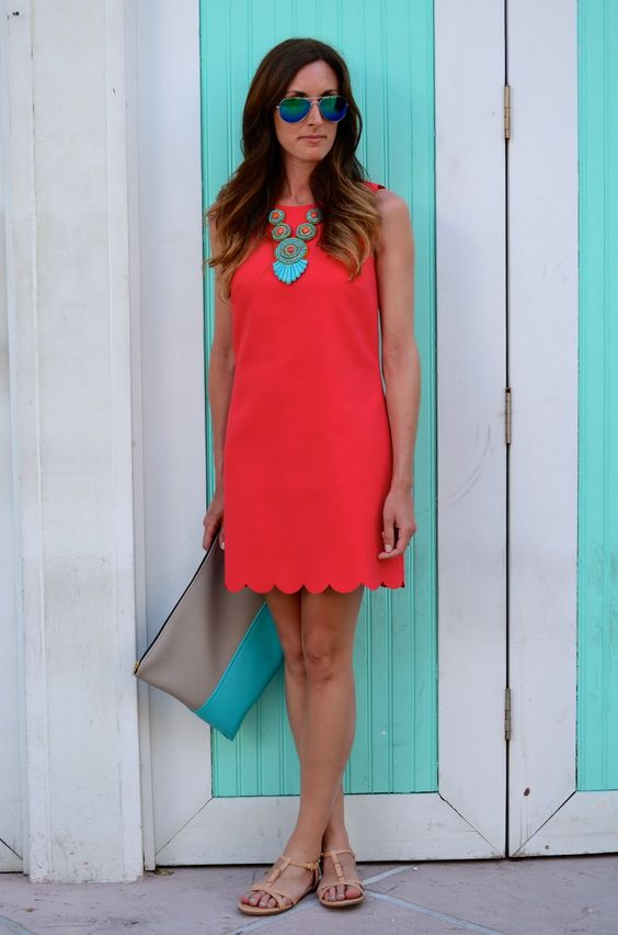 Orange Dress via