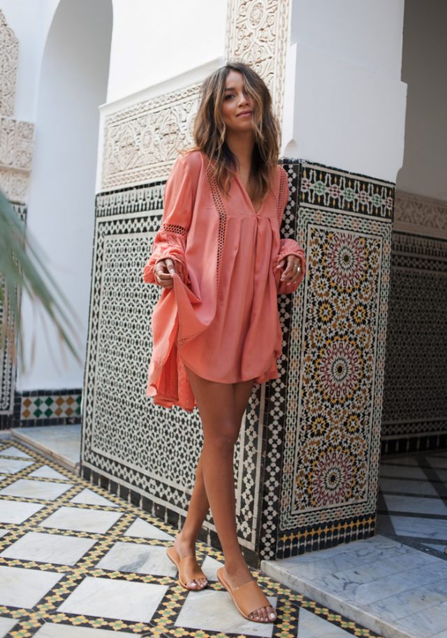 Orange Dress via
