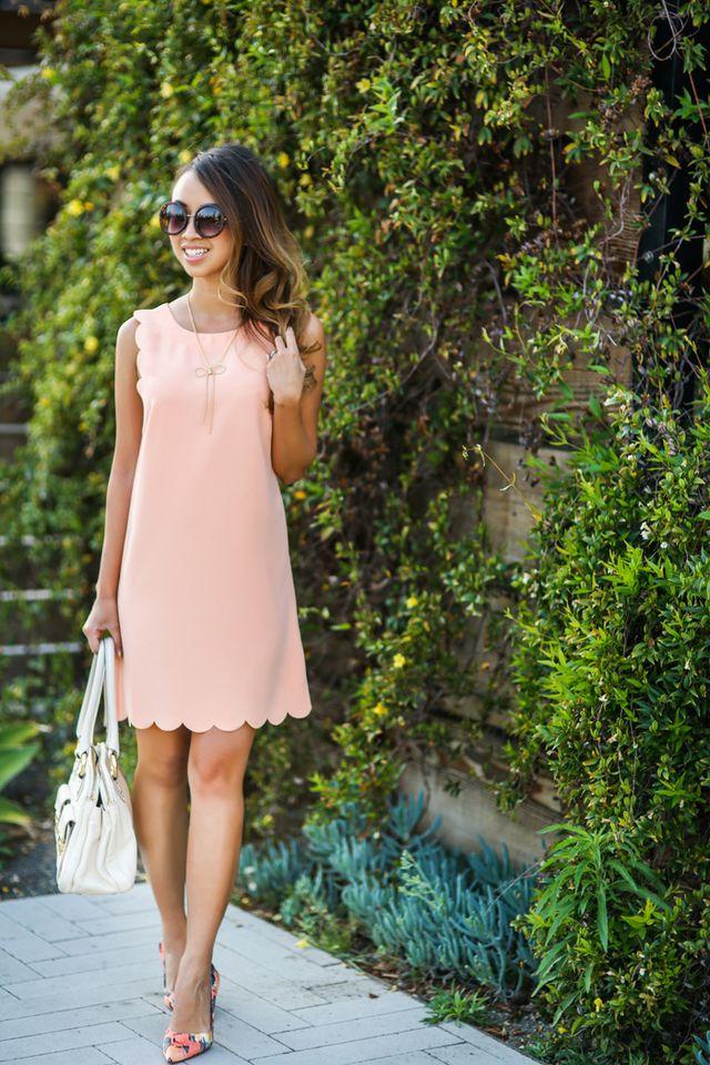 Pink Scalloped Dress via