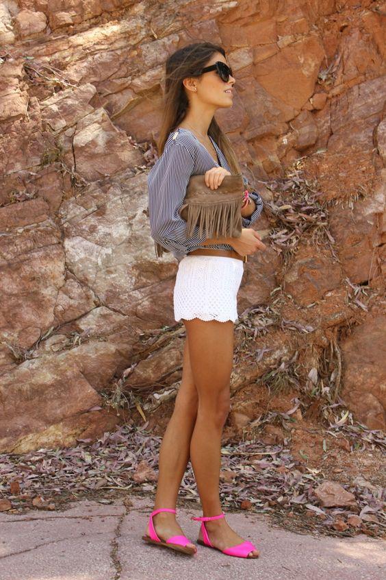 Scalloped Shorts via