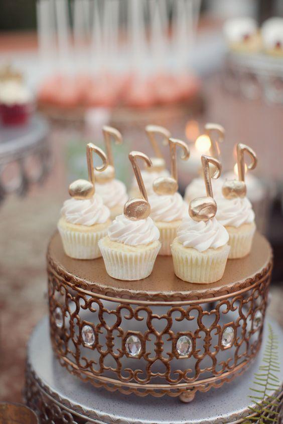Small Music Cupcake via