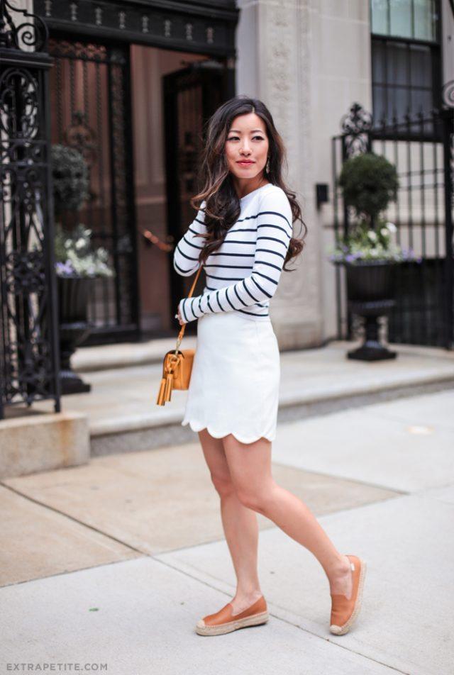 White Skirt Strip 39
