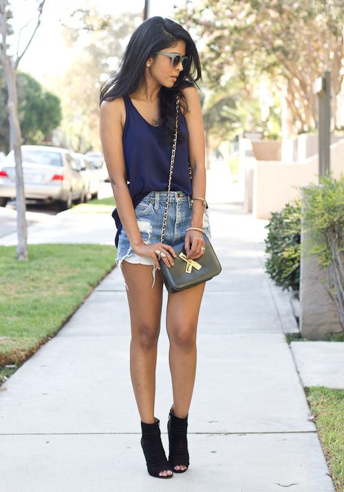 Tank Top and Cut Out Shorts via