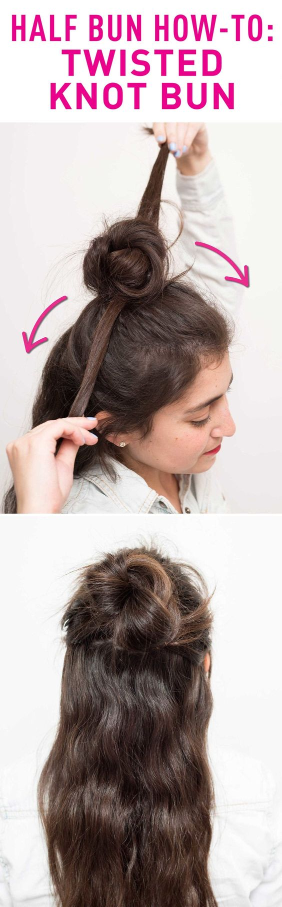 Top Twisted Knot Bun via