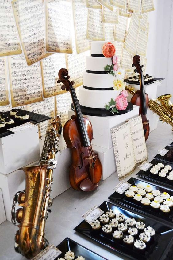 music themed wedding decorations 20 wedding ideas for pretty designs 6073