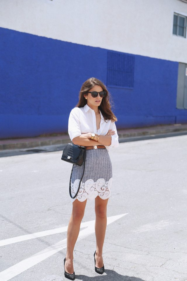 White and Grey Outfit via