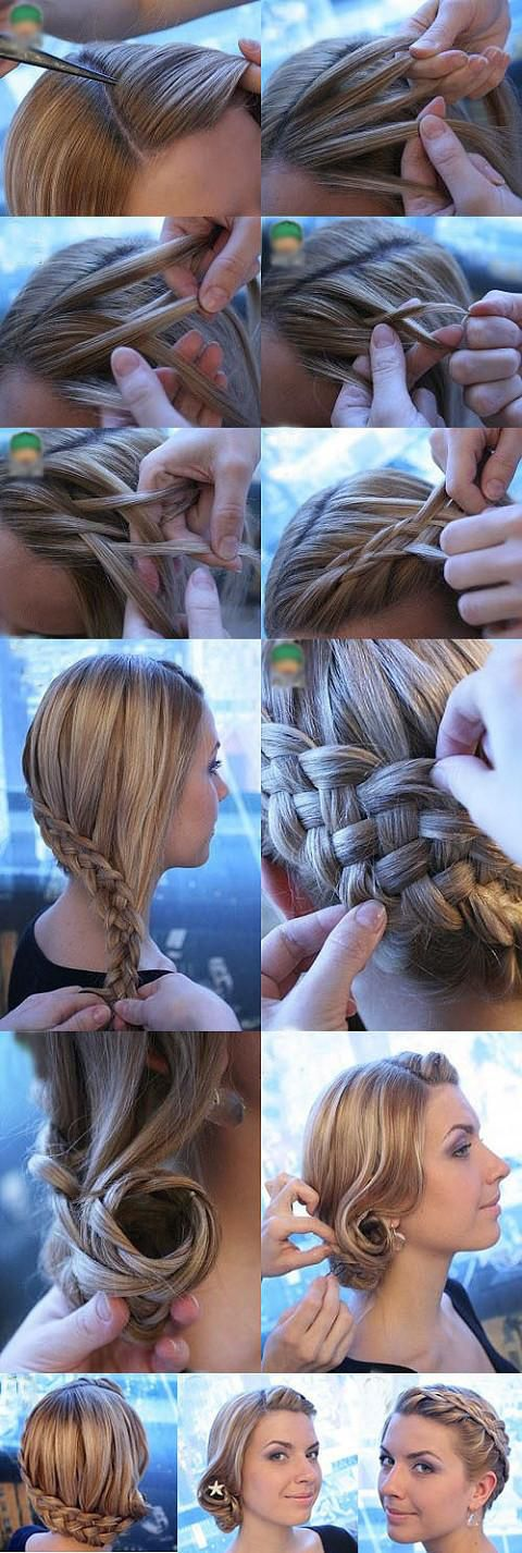 Wrap Around Braid and Wrap Around Bun via
