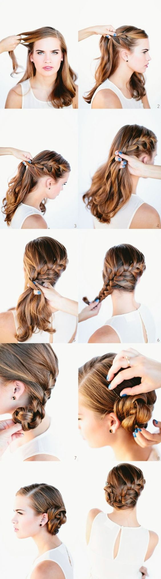 Wrap Around Braided Bun via