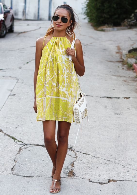 Yellow Summer Dress via