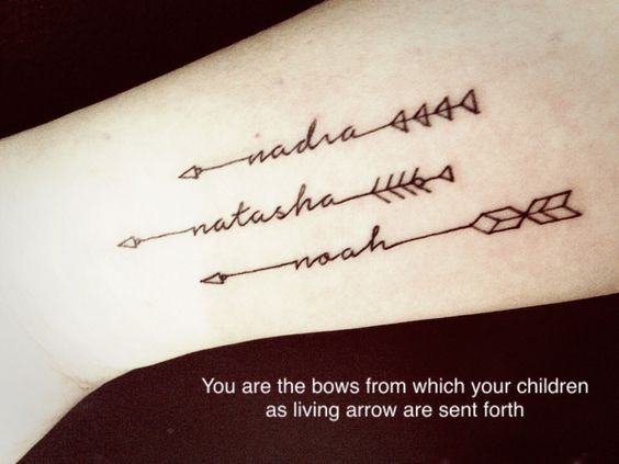 30 amazing arrow tattoos for female pretty designs for Warrior bible verse tattoos