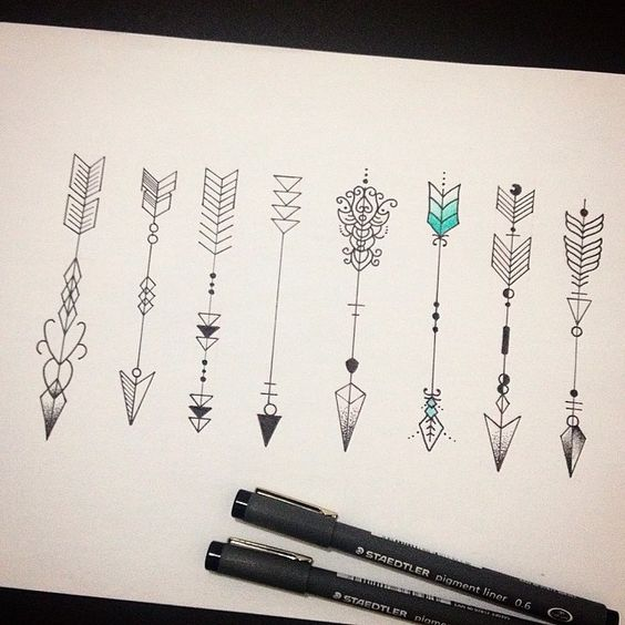 4ac813f0cd957 30 Amazing Arrow Tattoos for Female - Pretty Designs