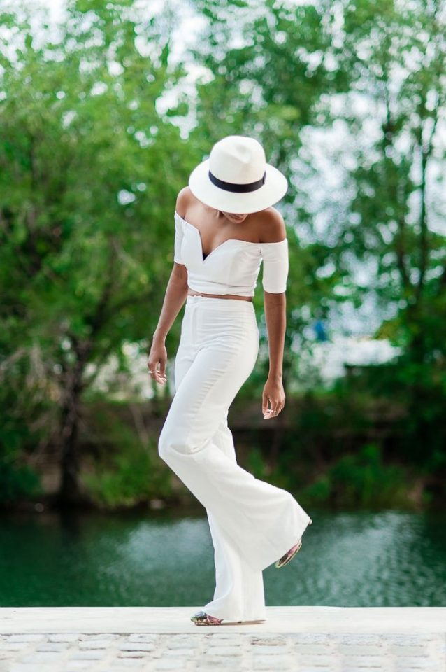 All-white Outfit via