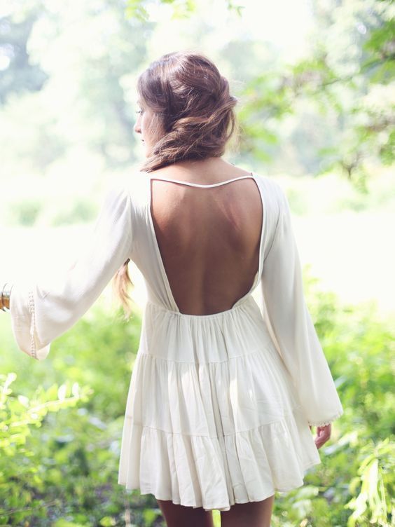 Backless Peasant Dress via