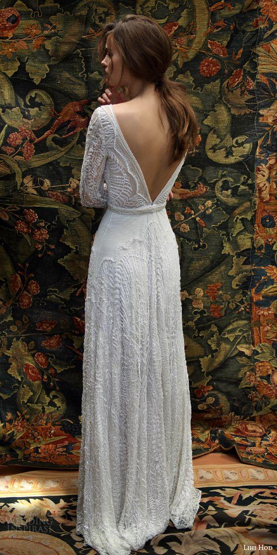 Backless Wedding Dress via