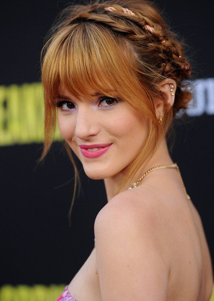 Bella Thorne Crown Braid via