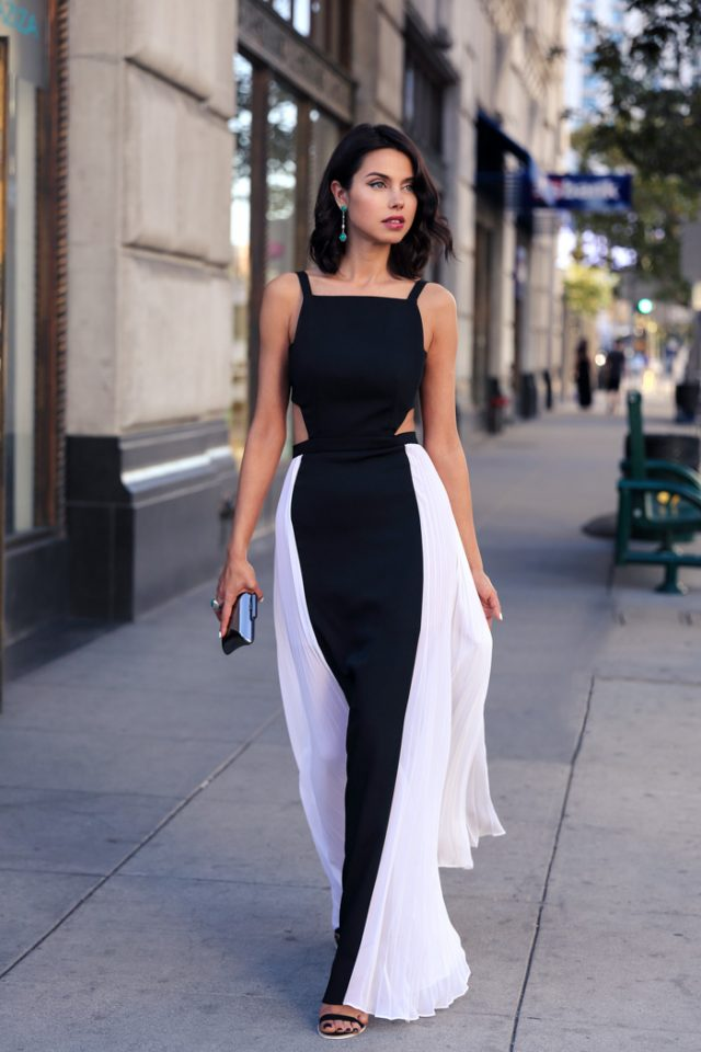 Black and White Tank Dress via