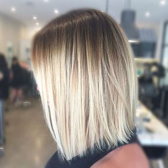 Blonde balayage lob for women 2017