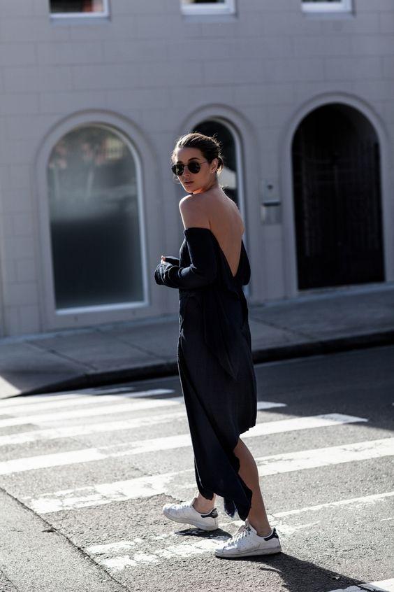 Blue Backless Dress via