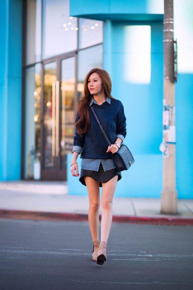 Blue Sweater Combo via