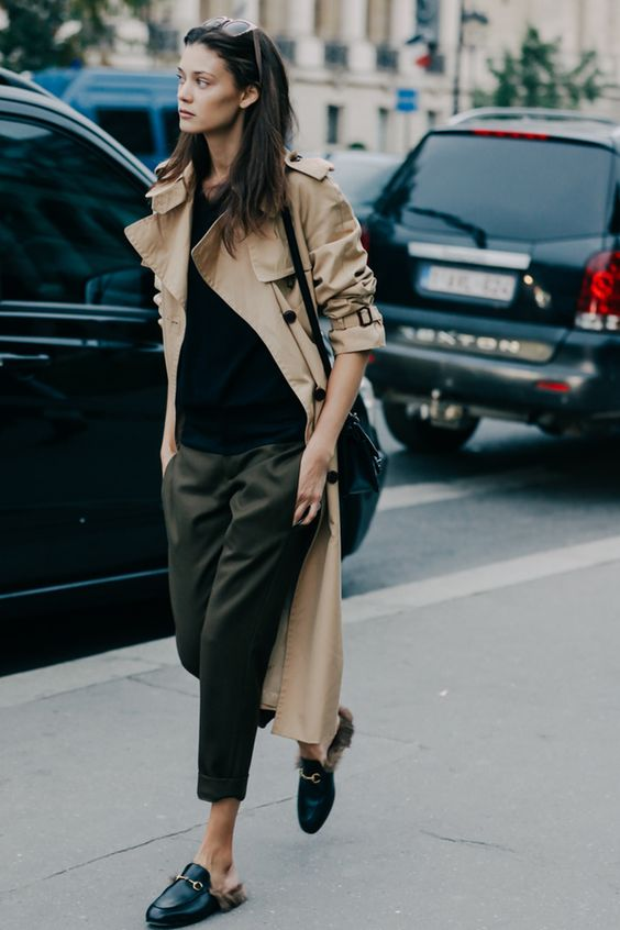 Casual Trench Coat Style via