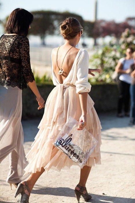 Chiffon Backless Dress via