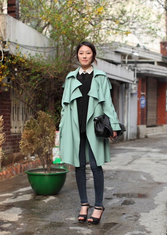 Colored Trench Coat via