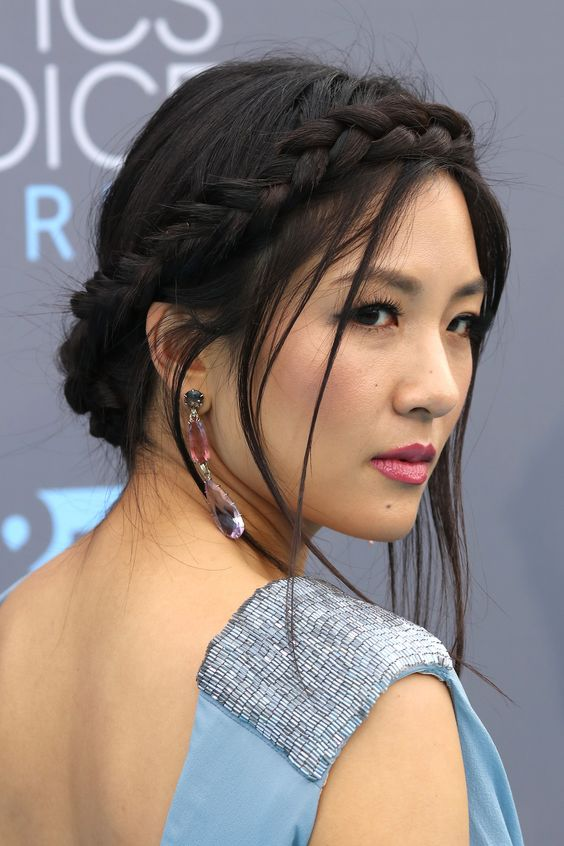 Constance Wu Crown Braid via