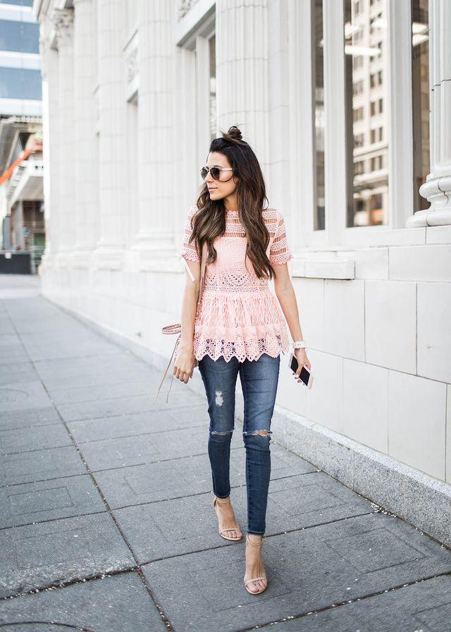 Crochet Pink Top via
