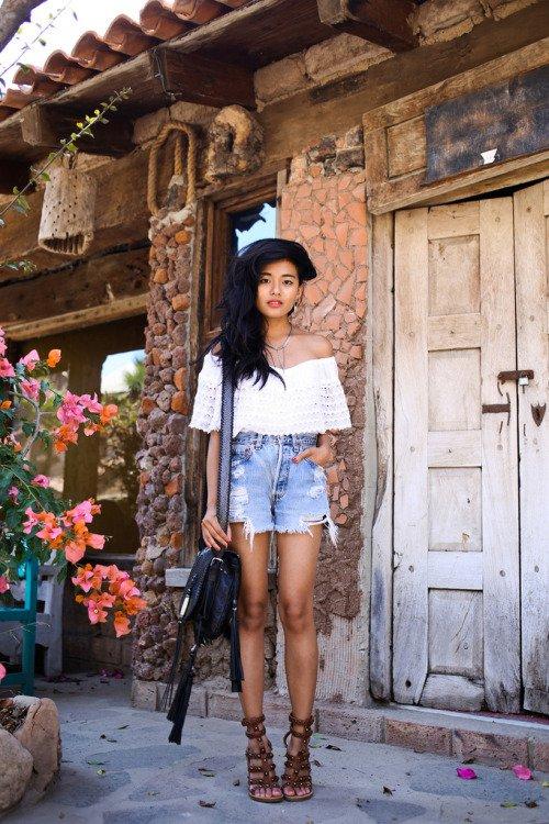 Crochet Top and Shorts via