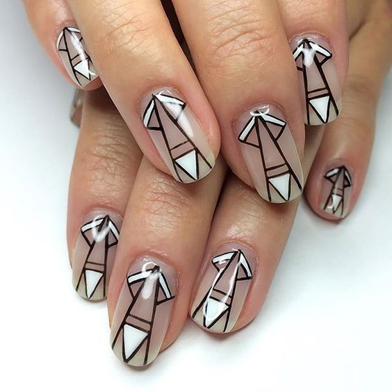 Cute Geometric Nails via