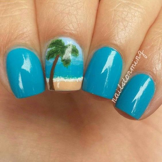 Cute Ocean Nails via