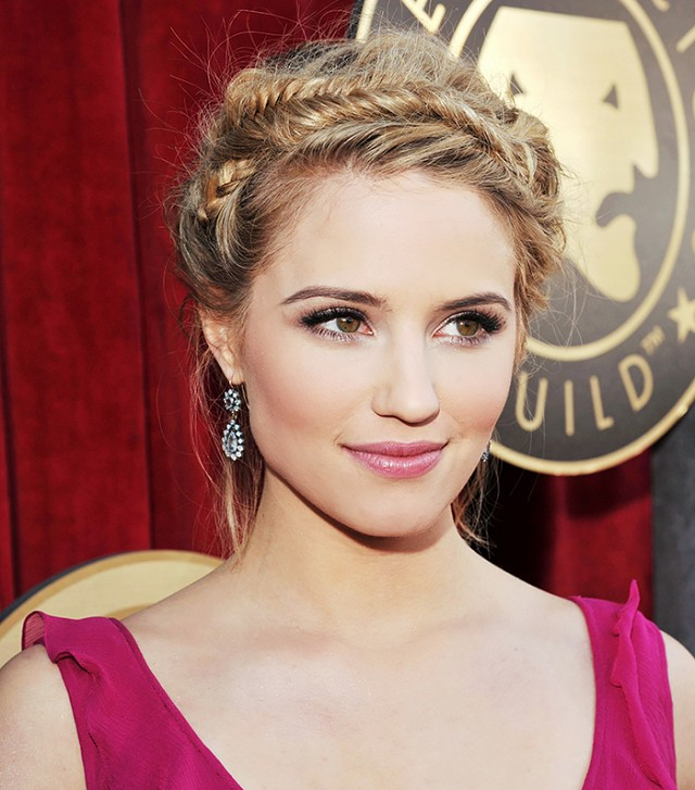 Dianna Agron Crown Braid via