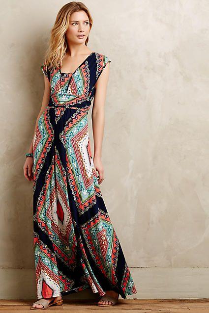 Geometric Maxi Dress via