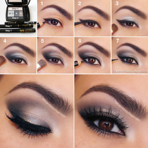 Grey and Silver Smoky Eyes via