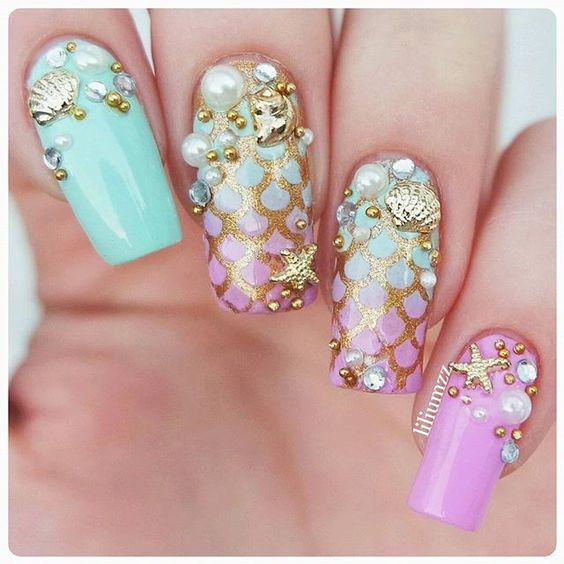 Mermaid Nails via