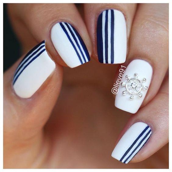 Nautical Manicure via
