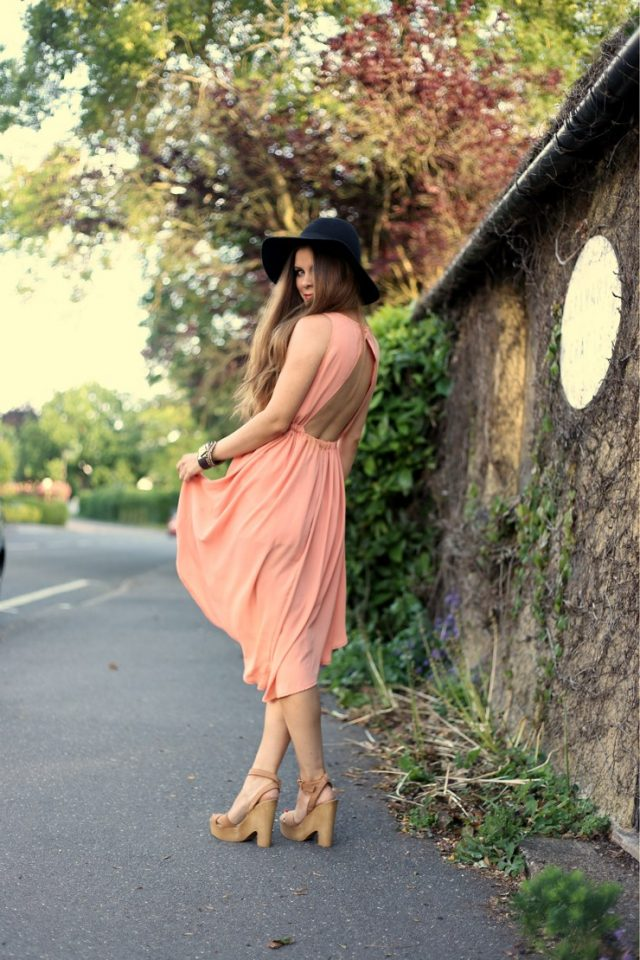Nude Backless Dress via