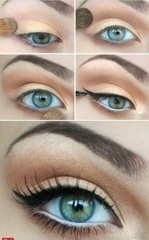 Nude Eye Makeup via