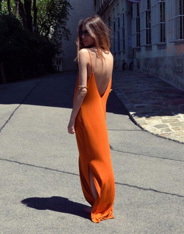 Orange Long Dress via