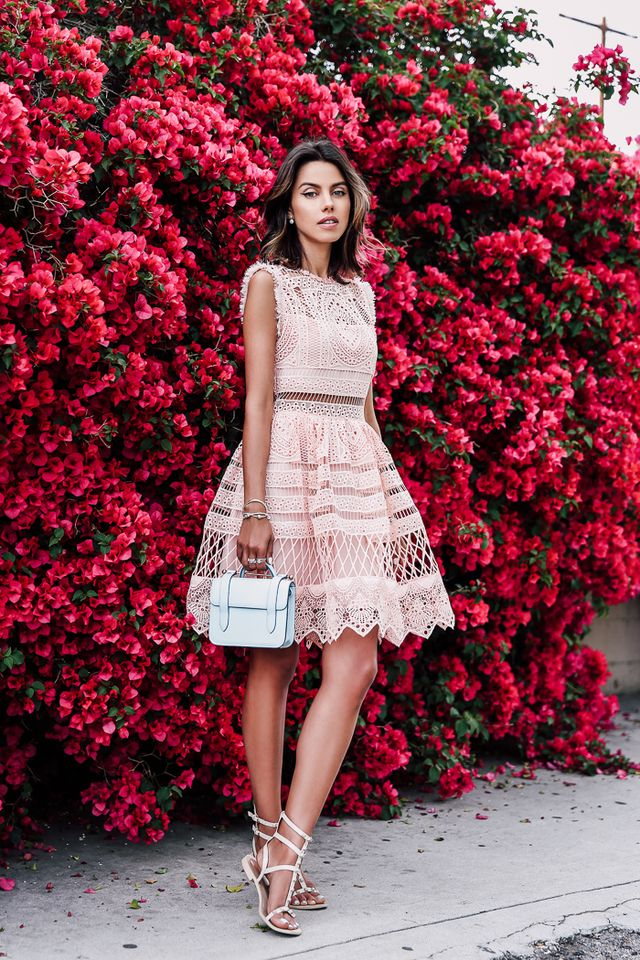 Pink Crochet Dress via