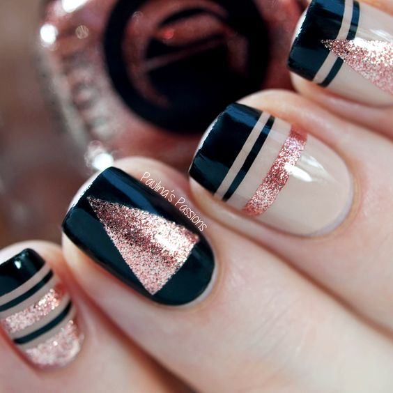 Pink Glitter Nails via