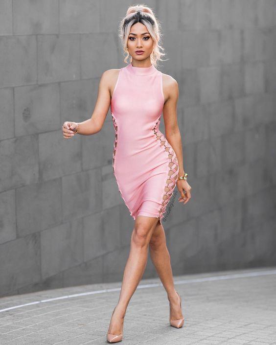 Pink Tank Dress via