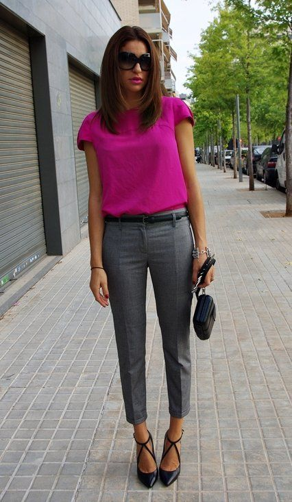 Pink Top and Cropped Pants via