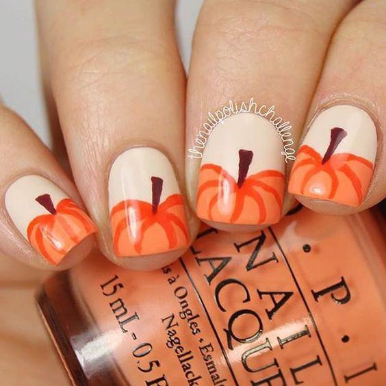 Pumpkin Nails via