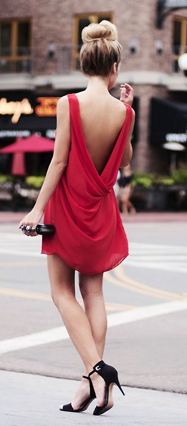 Red Backless Dress via