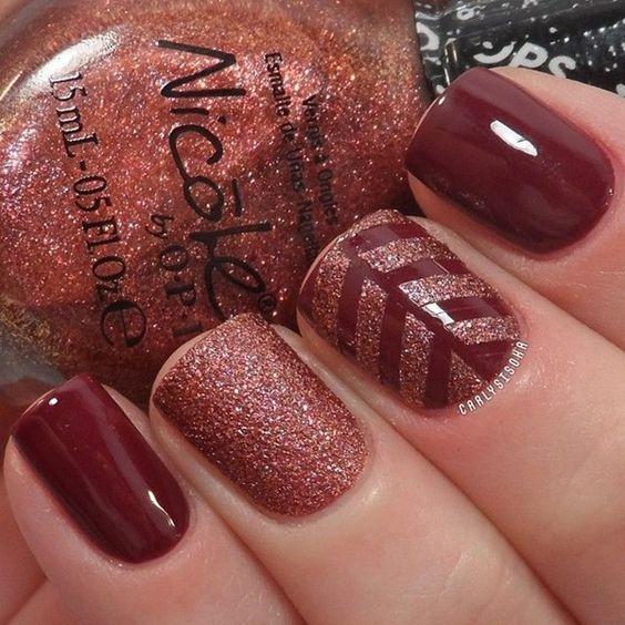 Red Glitter Nails via