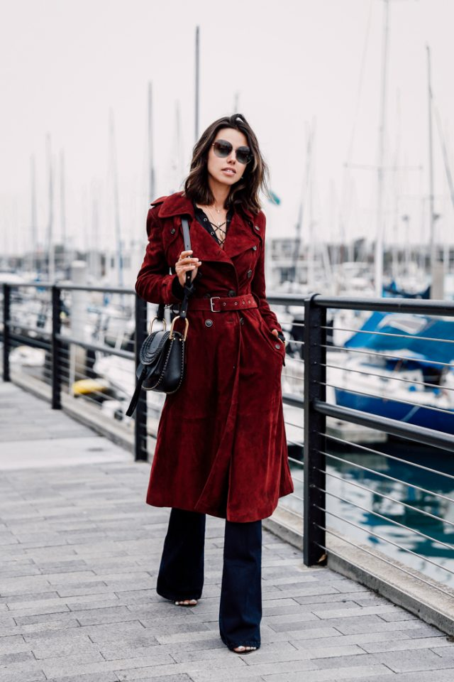 Red Trench Coat via