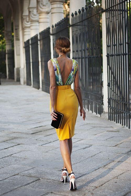 Shinny Backless Dress via